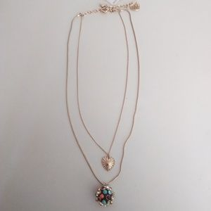 Betsey Johnson New Double Bangle Necklace